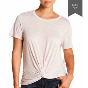 Michael Stars Tops - Michael Stars Short Sleeve Knotted Front Tee